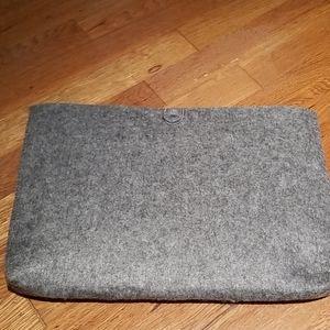 West Elm grey felt pouch